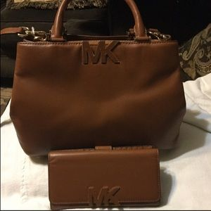 Michael Kors Florence Leather Satchel & Wallet NWT